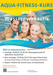 Plakat Aquafitness-Kurs in Over © Gemeinde Seevetal